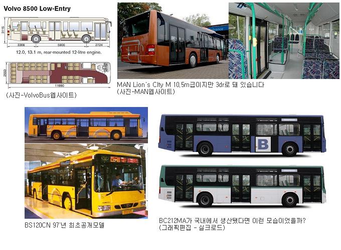 3-door 버스들